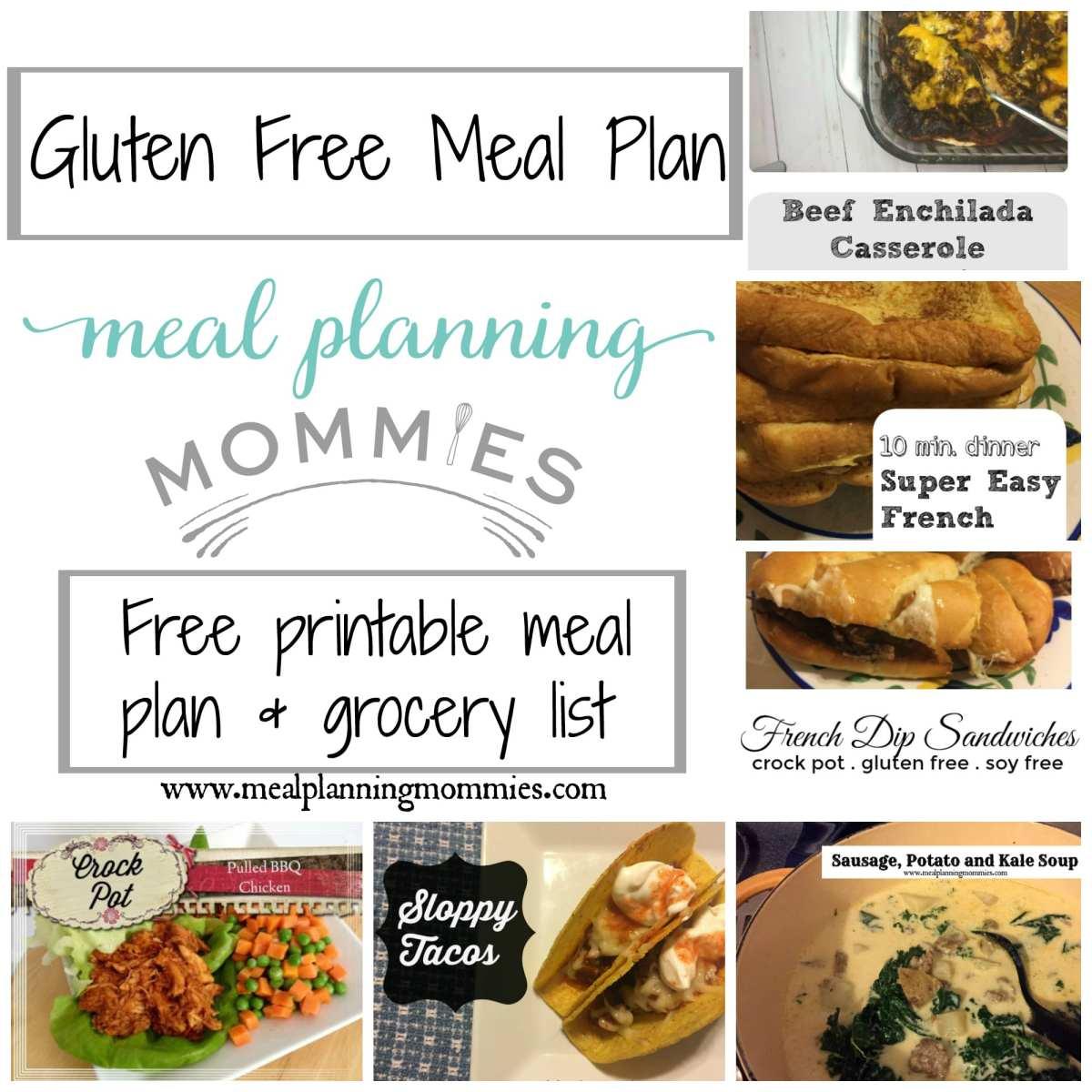 Gluten Free Meal Plan December 5-10th