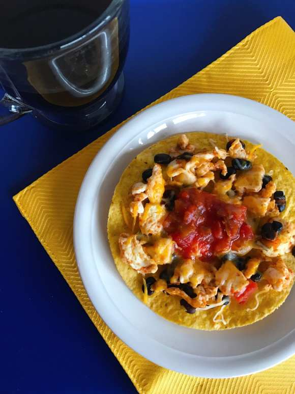 Quick and easy breakfast tostadas with Weight Watcher smart points