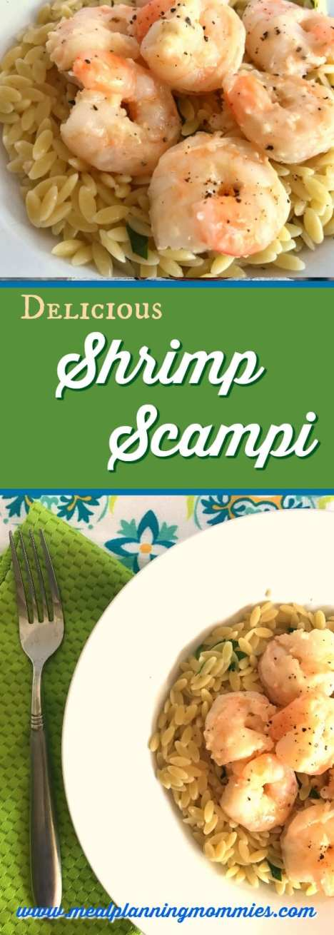 Weight Watchers friendly shrimp scampi