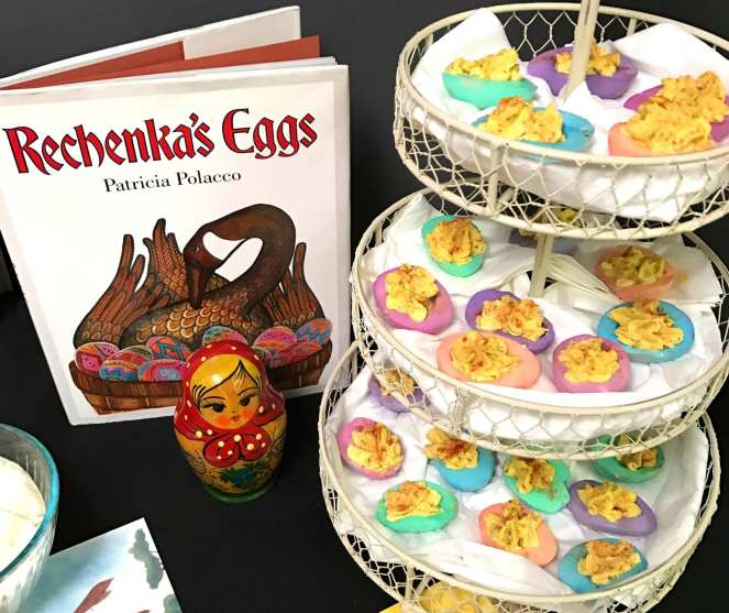 egg snack to go with the Rechenka's Eggs book