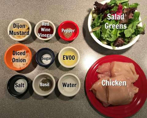 ingredients for grilled chicken with mustard sauce