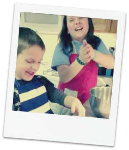 My kids having fun in the kitchen