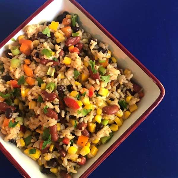 Rainbow Bean and Rice Salad