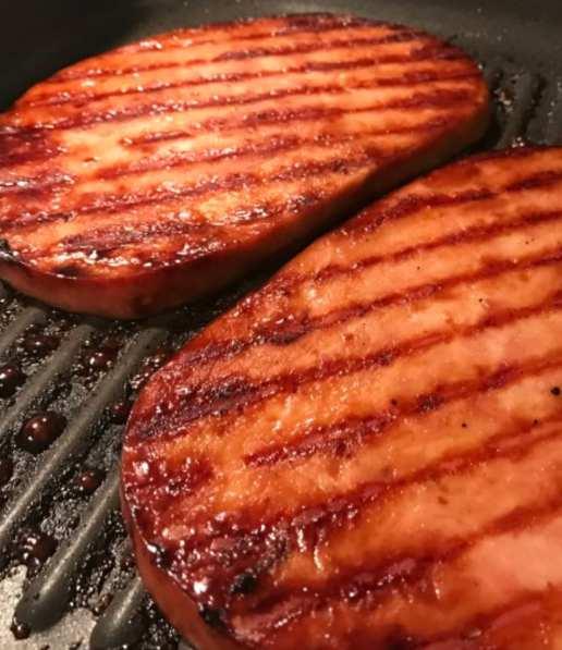 Molasses Glazed Ham Steak