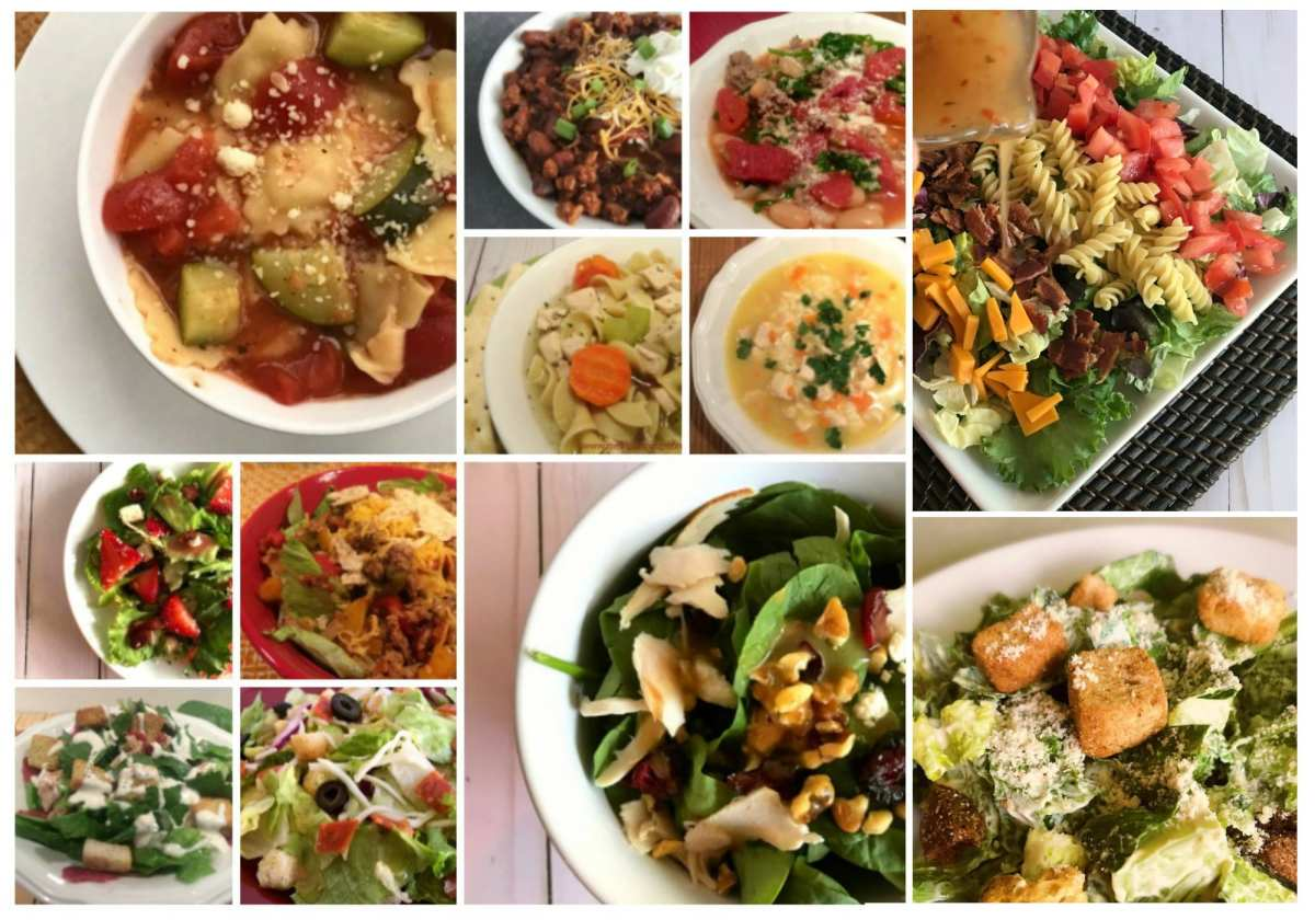 20 Weight Watchers Friendly Soups and Salads You Can Pack in your Lunch.