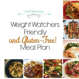 Weight Watchers Friendly (and Gluten Free) Meal Plan #31
