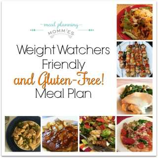 Weight Watchers Friendly (and Gluten Free) Meal Plan #31 with FreeStyle Smart Points