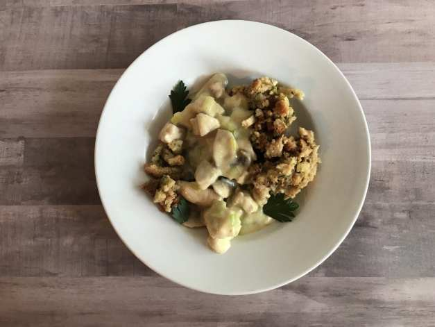 Weight Watchers friendly Creamy chicken and stuffing casserole
