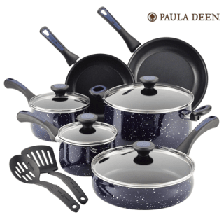 Paula Deen® Riverbend Speckled Deep Blue 12-piece Cookware Set Giveaway