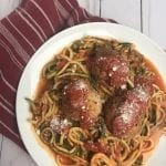 Italian Turkey Meatballs & Sauce with Zoodles
