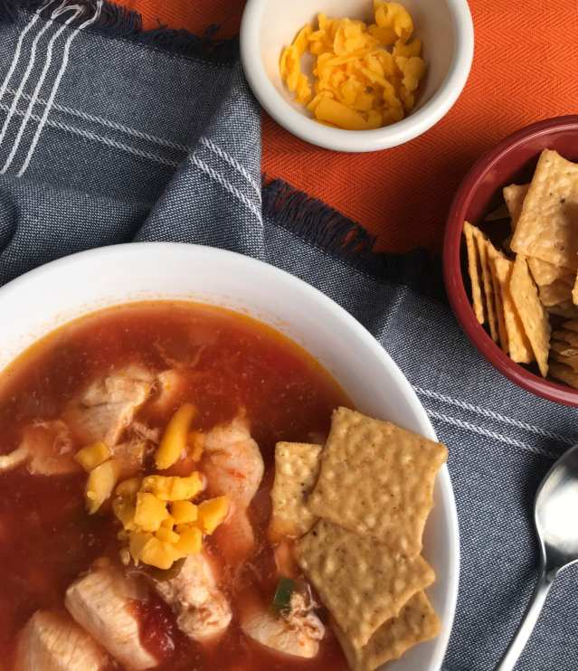 Mexican Chicken Soup on Meal Planning Mommies