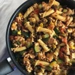 Southwestern Turkey & Vegetable Pasta Dish