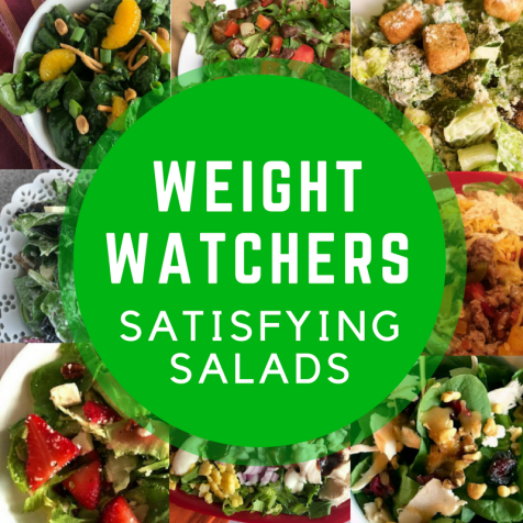 Weight Watchers satisfying salads on the Meal Planning Mommies Pinterest board