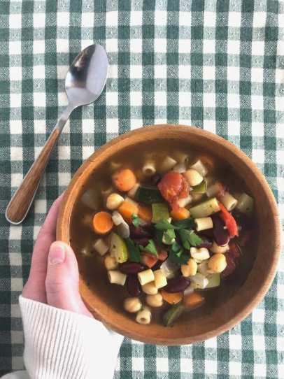 This delicious Minestrone soup is just 2 Weight Watchers SmartPoitns per serving.