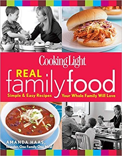 I love my Cooking Light Real Family Food cookbook that uses simple and easy recipes your whole family will love.