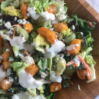 Simple Buffalo Shrimp Salad