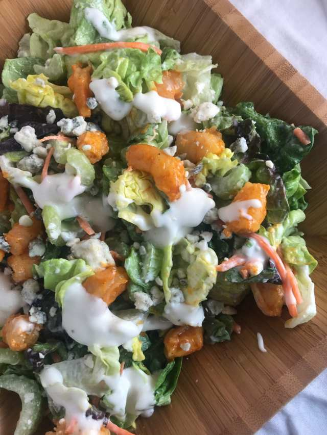 Buffalo Shrimp Salad - A recipe in the Meal Planning Mommies free meal plan.