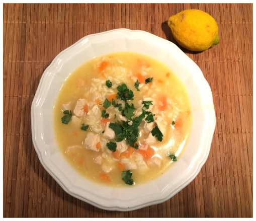 Chicken Lemon Rice Soup on Meal Planning Mommies.