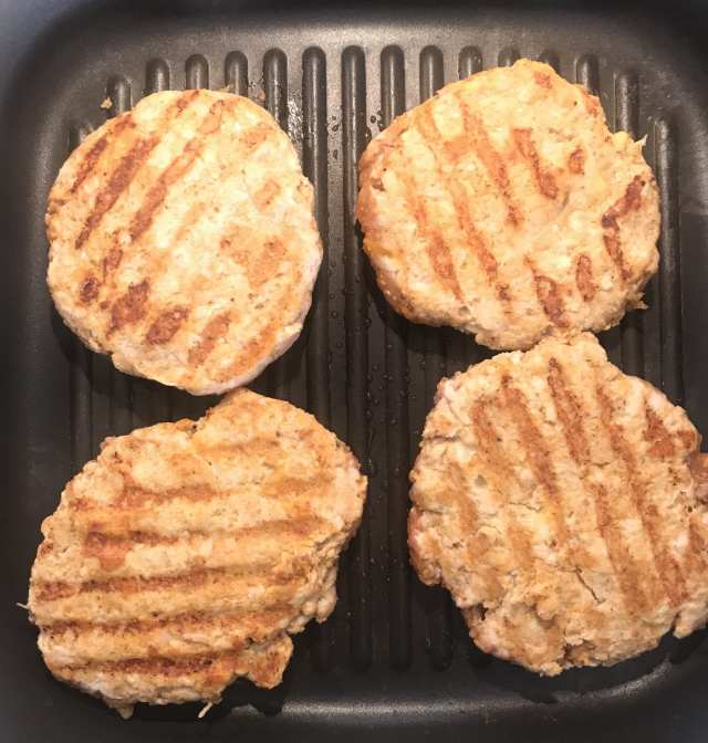 Grill your Cataline Taco Turkey Burgers.