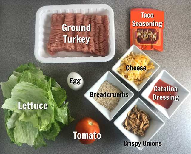 Simple ingredients to make a delicious Catalina Taco Turkey lettuce wrap on Meal Planning Mommies - Just 6 Weight Watchers SmartPoints per lettuce wrap.