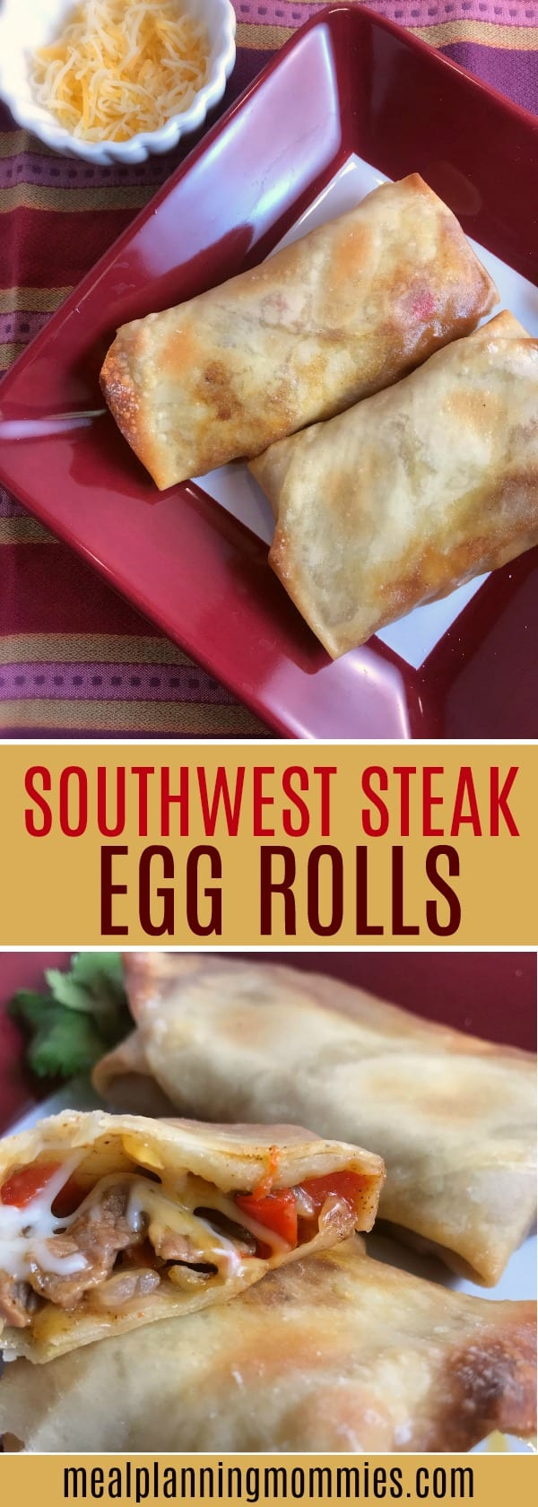 These Southwest Steak Egg Rolls are delicious - Just 4 WW FreeStyle Smart Points per egg roll.