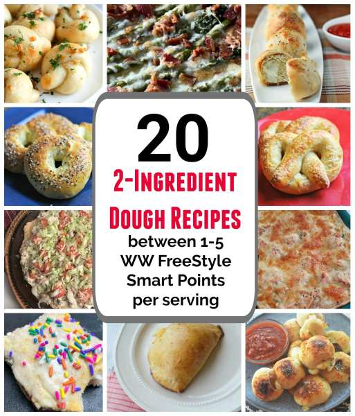 20 Weight Watchers recipes that use 2-Ingredient dough and are between 1-5 WW FreeStyle SmartPoints per serving.
