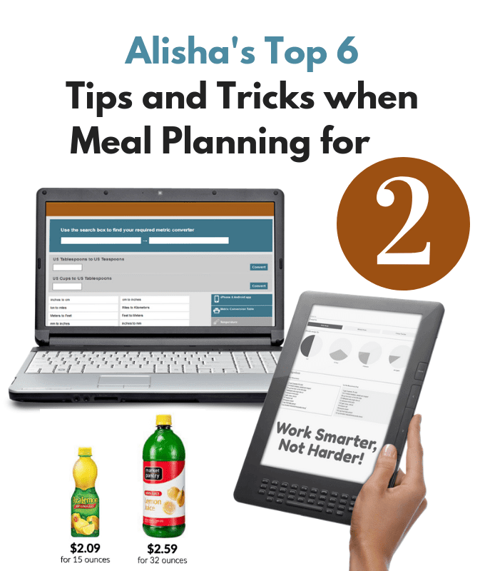 6 Best Meal Planning Tips and Tricks for Feeding 2 people.