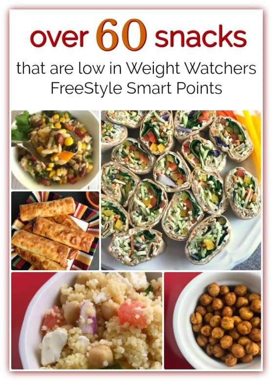 Over 60 Weight Watchers snacks that are between 0-5 WW FreeStyle SmartPoints.