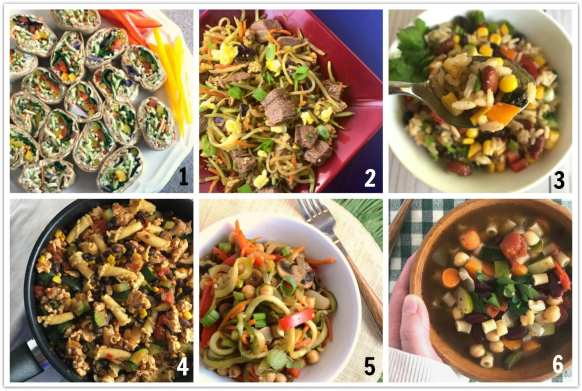 WW friendly recipes that use lots of vegetables.