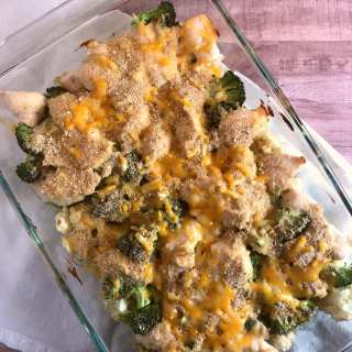 Cheesy Chicken Floret Bake