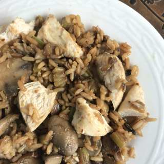 Mushroom Chicken with Wild Rice