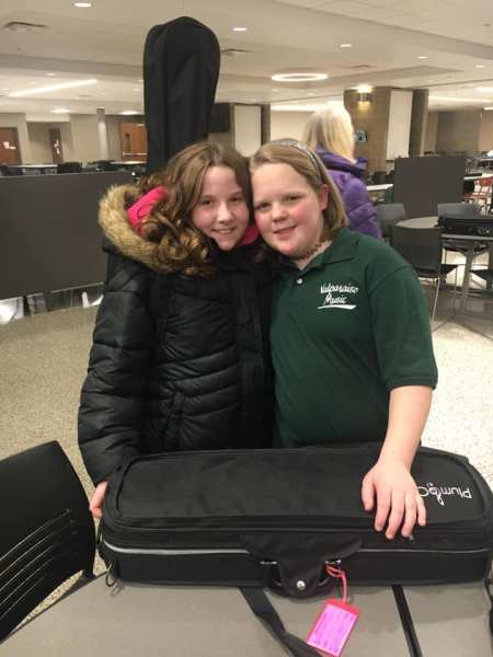 Keely Hughes and her friend Amelia