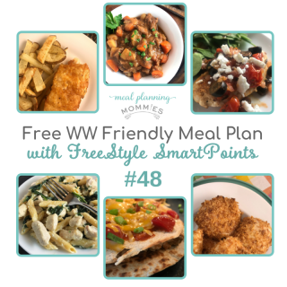 WW FreeStyle Friendly Meal Plan #48
