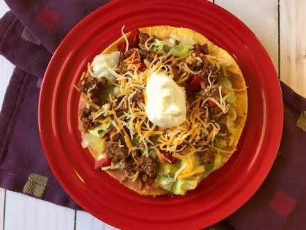 Beef Tostadas on Meal Planning Mommies