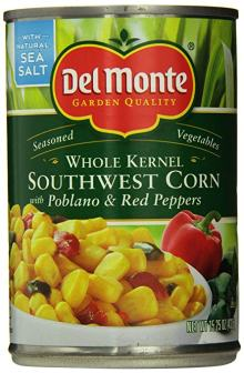 Southwest corn in a Southwest Chicken Bacon and Ranch salad on Meal Planning Mommies.