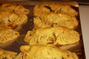 Jamaican Chicken and Spinach Patties