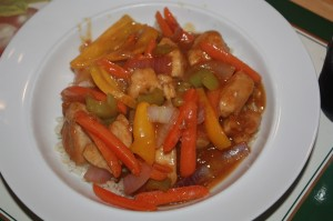 Orange Chicken and Vegetables
