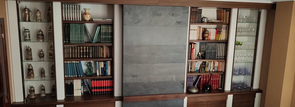 Librería de salón y mueble auxiliar de comedor