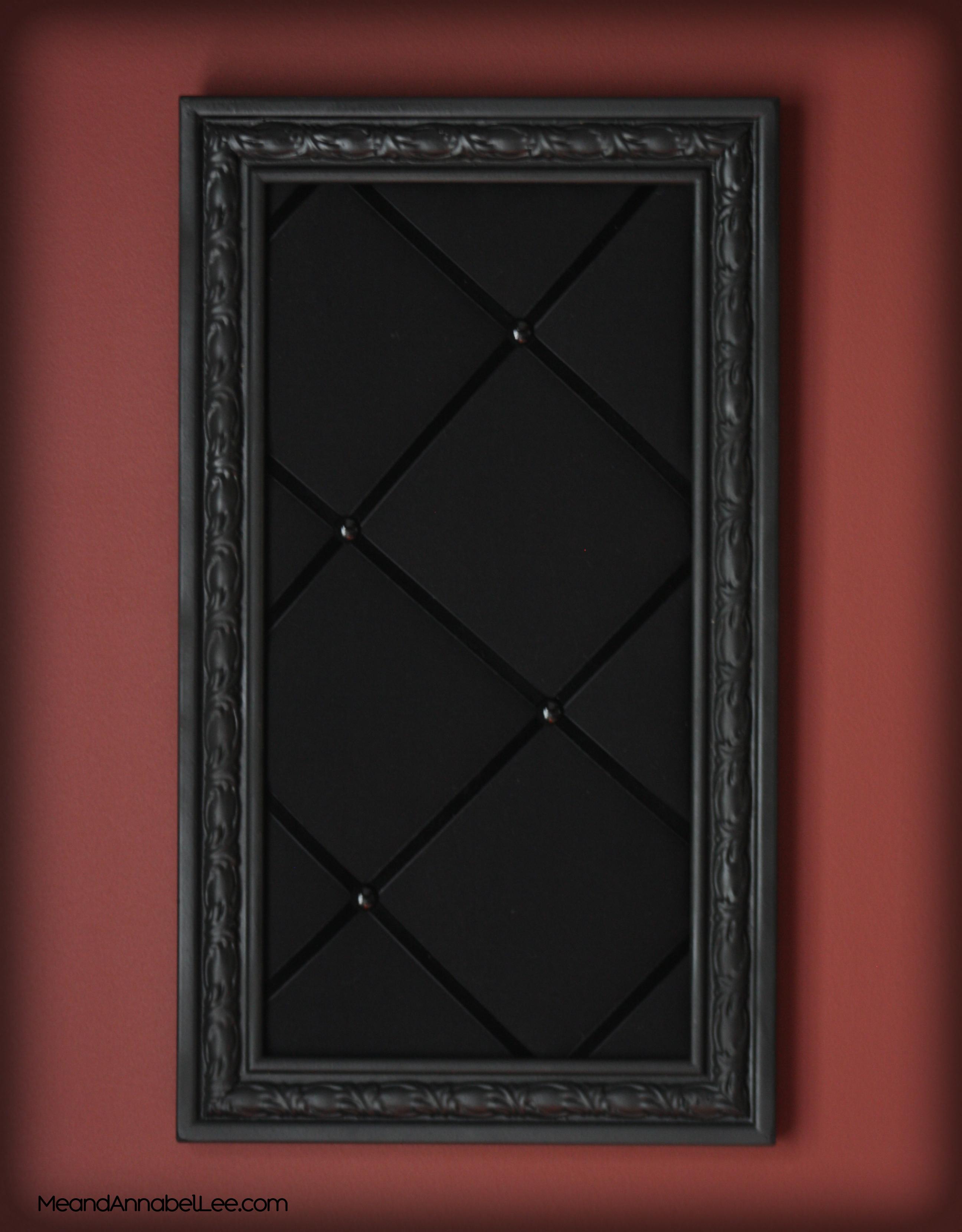 DIY Upholstered Gothic Memo Board