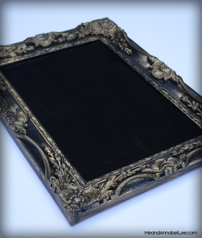 DIY Black & Gold Gothic Serving Tray | Me and Annabel Lee - Gothic Blog