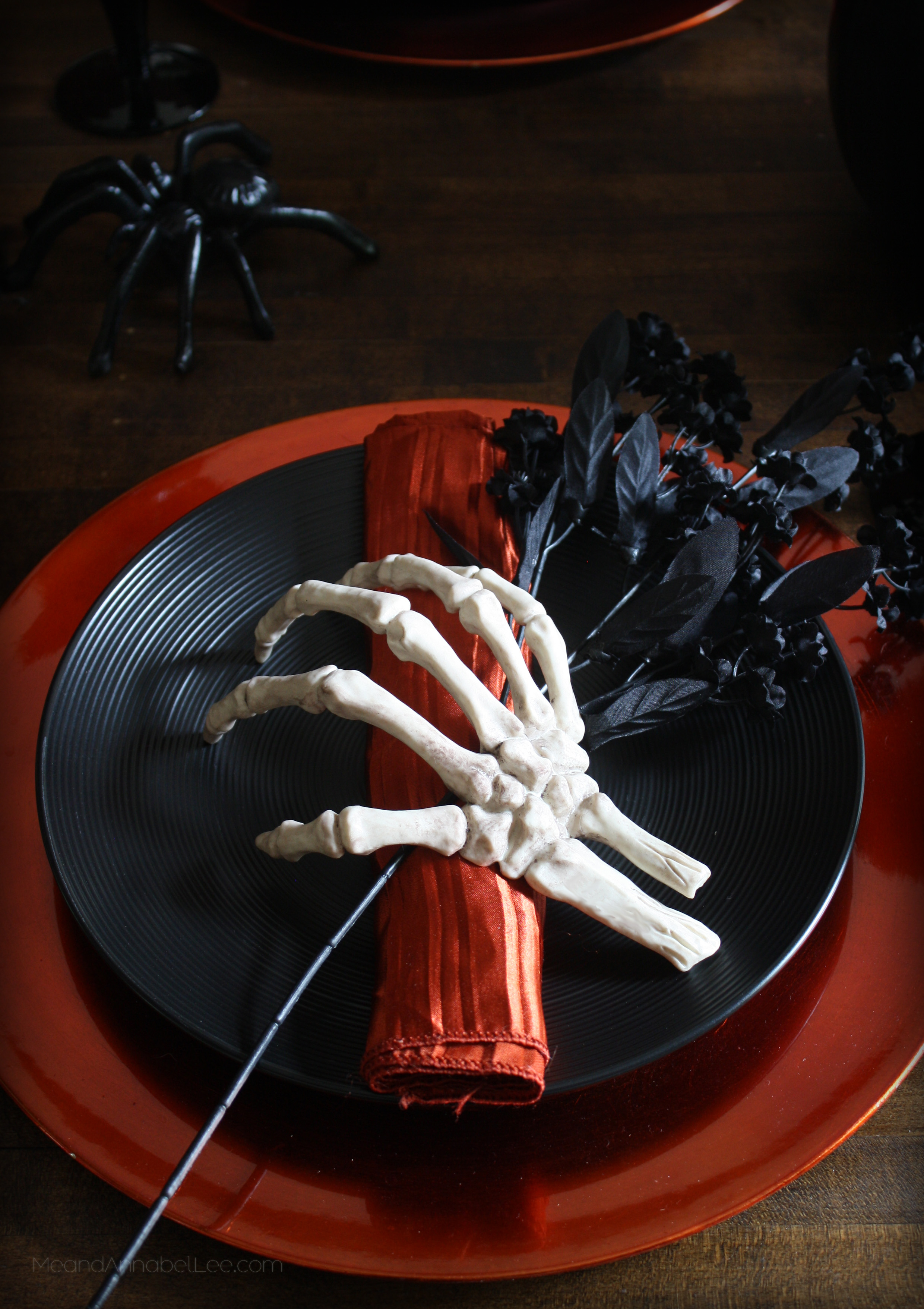 skeleton hands halloween napkin holders halloween table setting gothic dinner party www