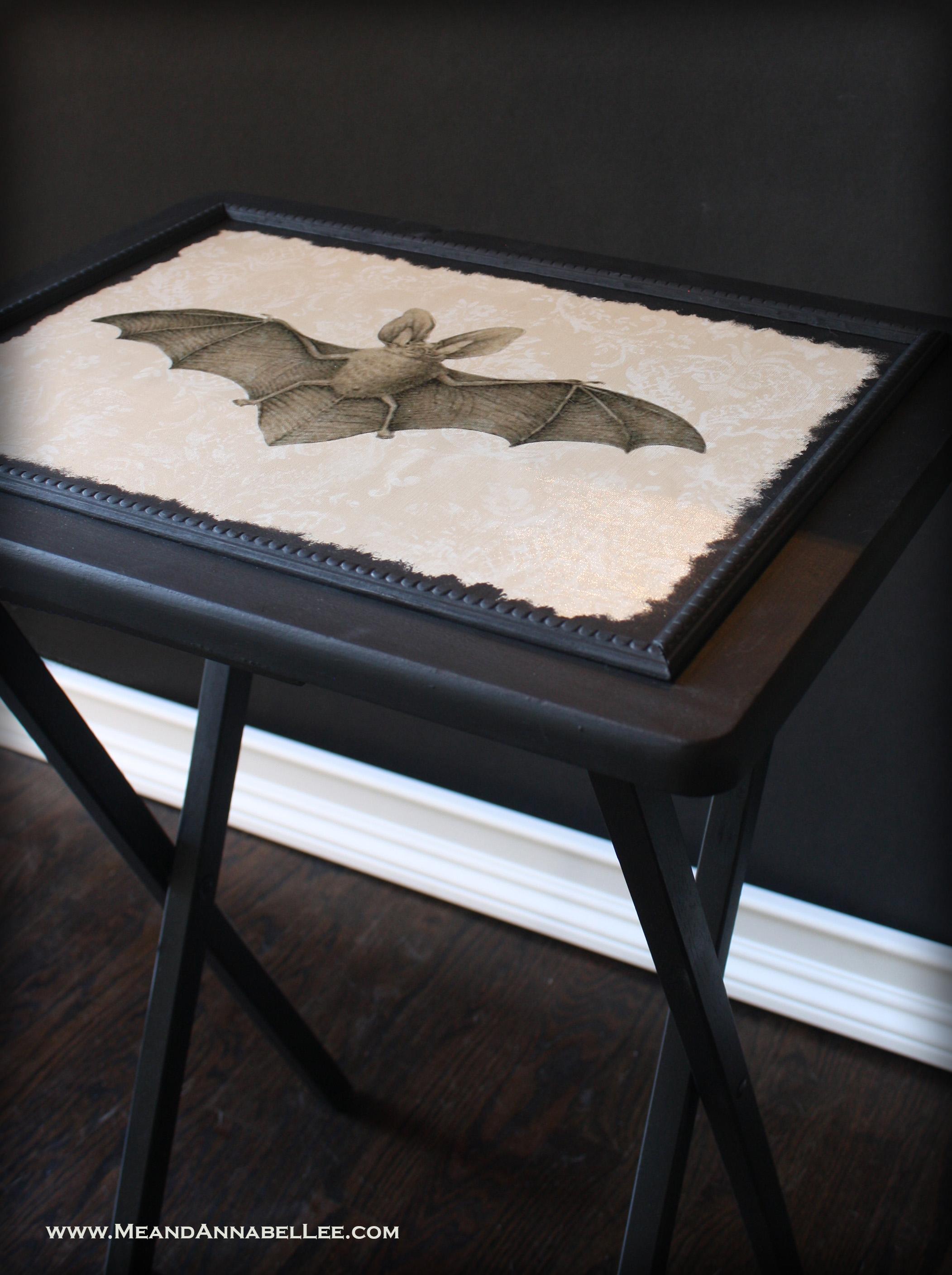 DIY Vintage Bat TV Tray Table