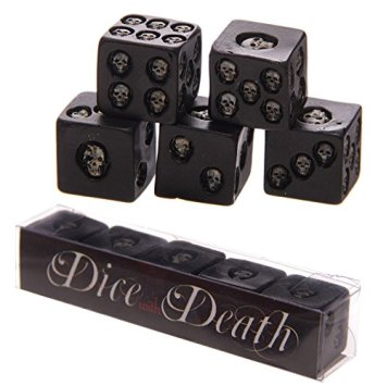 20 Macabre, Twisted, Unusual, Dark, Victorian, & Gothic Stocking Stuffers | Black Skull Dice | Dice Death | Christmas Shopping | www.MeandAnnabelLee.com