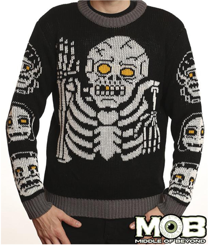 15 ugly gothic christmas sweaters and accessories skulls krampus pentagrams and more - Black Metal Christmas Sweater