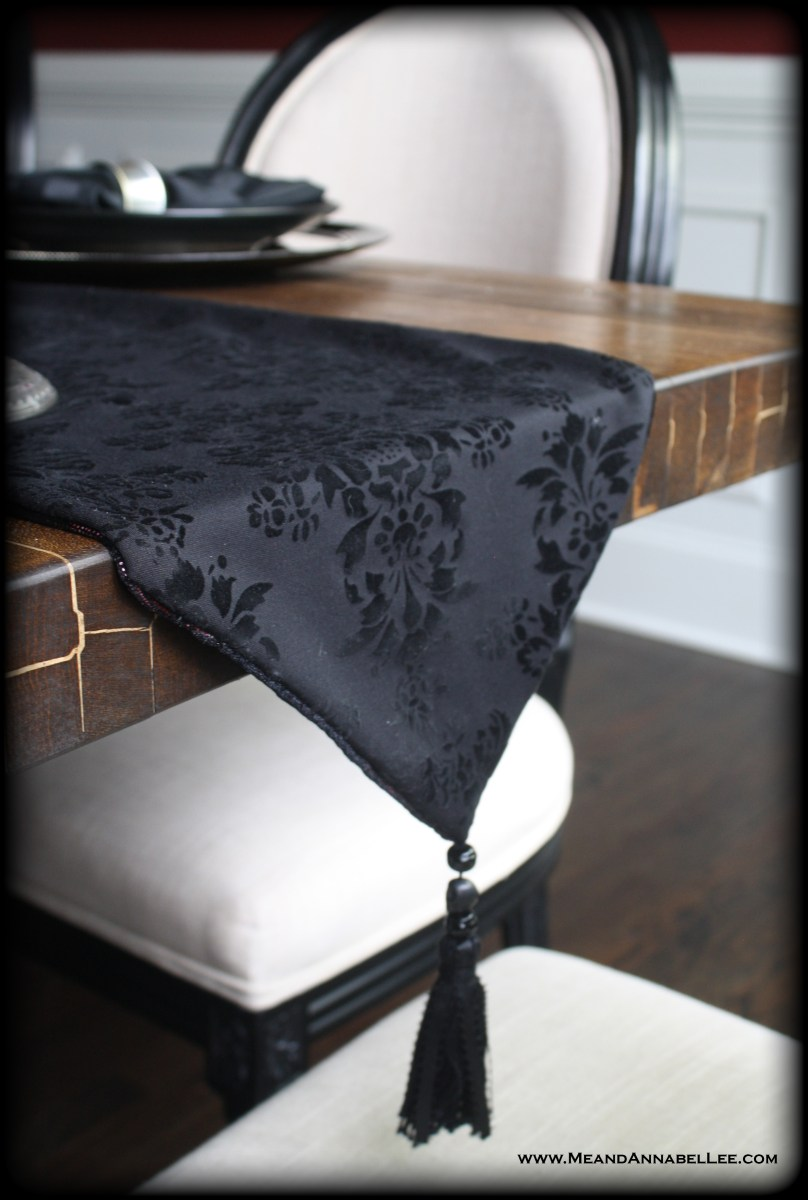 Two Face - Reversible Victorian Gothic Table Runner