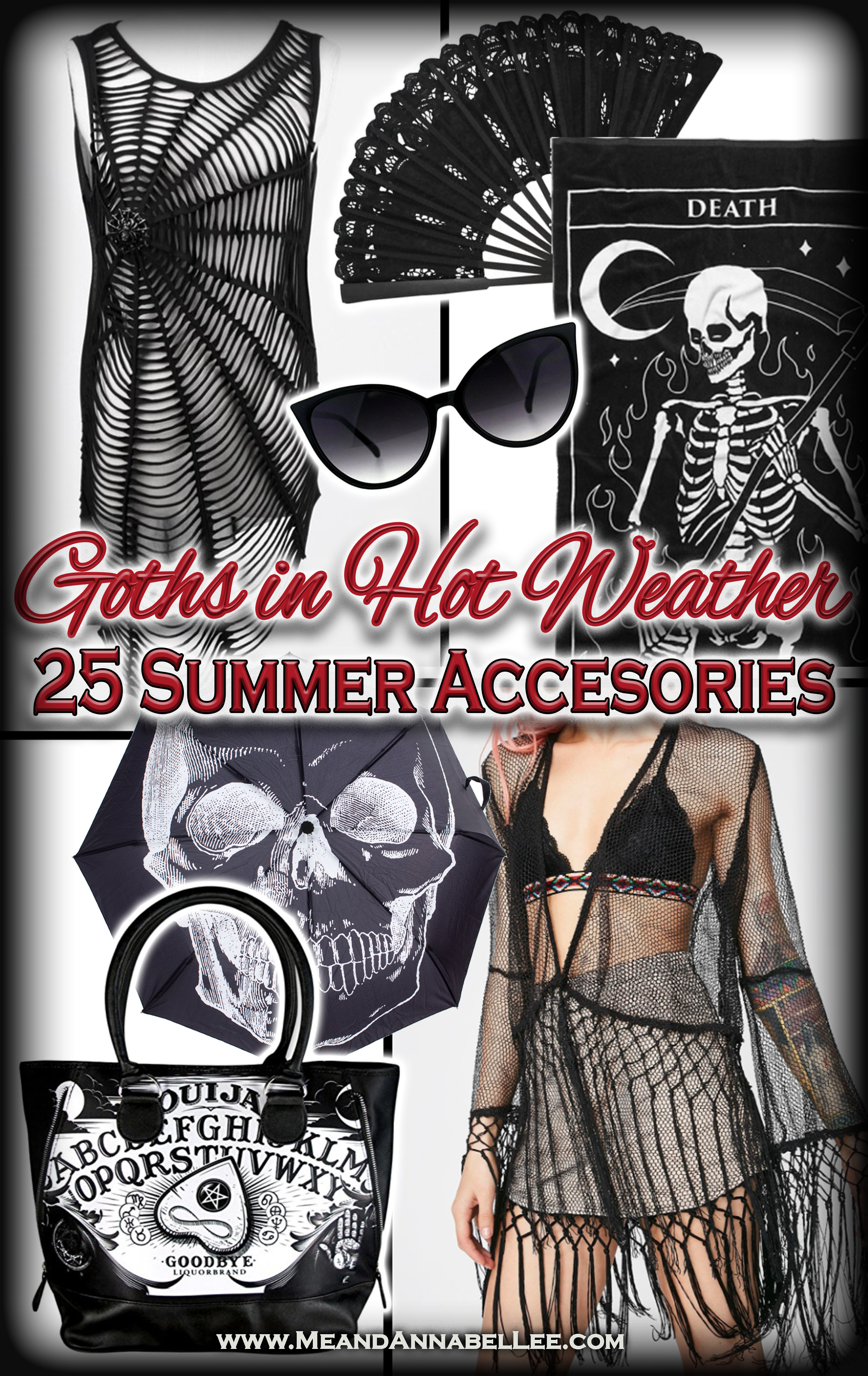 8c7da85d04853 25 Must Have Gothic Summer Accessories for Goths in Hot Weather