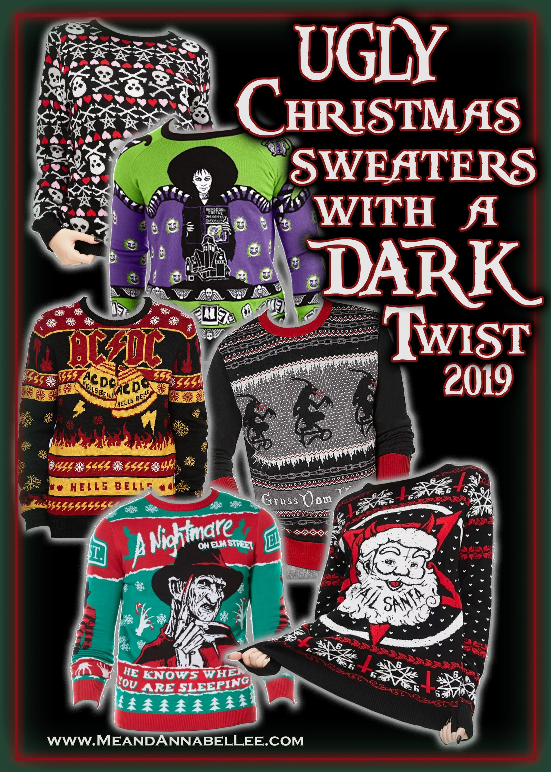 Heavy Metal Christmas Sweater 2020 Dark, Twisted, & Gothic Ugly Creepmas Sweaters | Holiday Apparel
