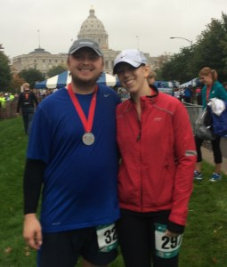 After the race with our medals and the capitol building