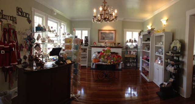 Wisteria Tea Room Revisited gift shop.