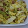 Cooked Cabbage with Bacon and Onions